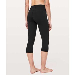 🆕Lululemon Wunder Under Cropped Yoga Pants Black